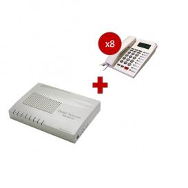 Orchid Telecom PBX 416 + 8 telefoni PK-111C