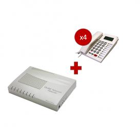 Orchid Telecom PBX 416 + 4 telefoni PK-111C