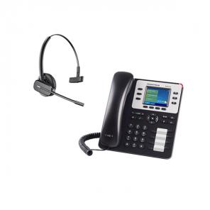 Telefono Fisso Grandstream GXP2130 + Plantronics CS540