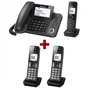 Telefono fisso Panasonic KX-TGF310 + 2 Panasonic KX-TGFA30