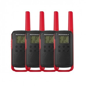 Pack x4 Motorola Talkabout T62 rosso