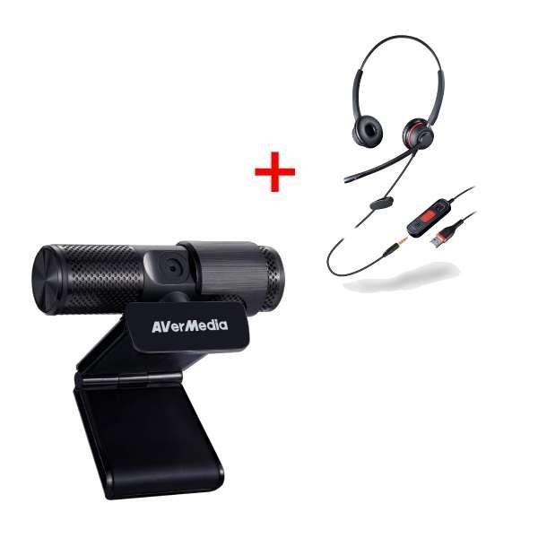 Pacchetto Avermedia Webcam USB + Cleyver HC65 USB