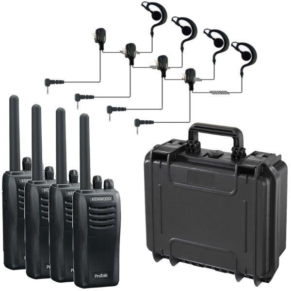 Pack: Valigia con 4 Kenwood 3501 + 4 Micro auricolari