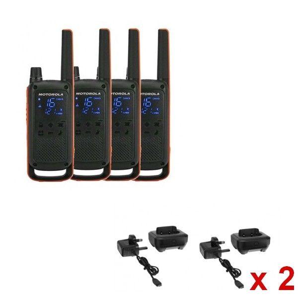 Motorola Pack Quartetto T82 + 4 basi di carica