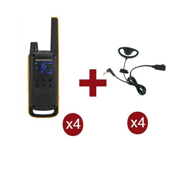 Motorola Talkabout T82 Extreme x4 + Kit Earloop x4