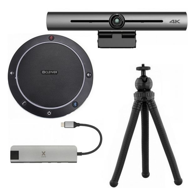 Pack videoconferenza Cleyver CC60 con barra immagine 4K