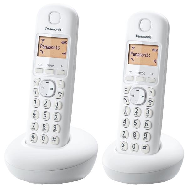 Telefono Cordless Panasonic KX-TGB212 Duo Bianco  e56ac99cca4a