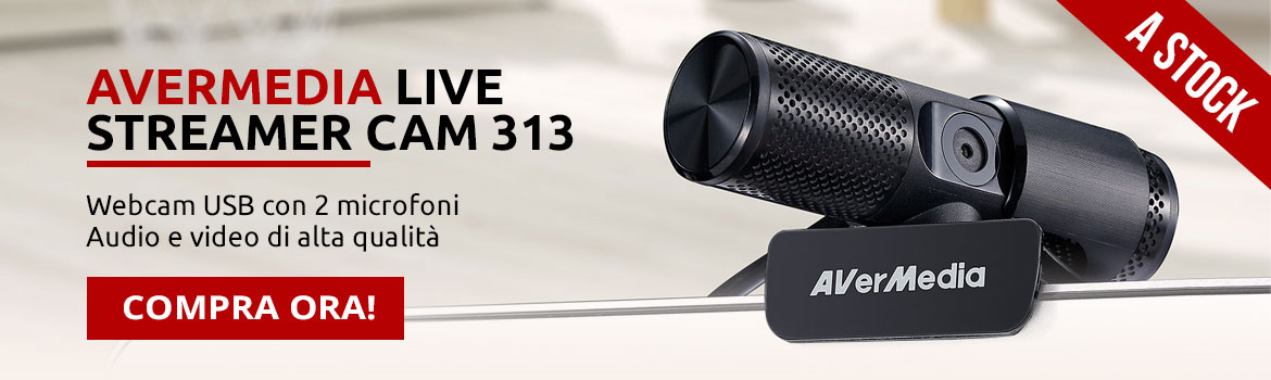 Avermedia webcam USB Live Streamer 313