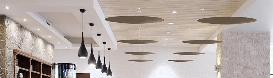 Pannelli acustici da soffitto